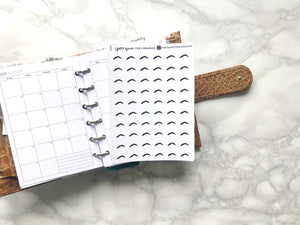Nano brow appointment sticker perfect for journaling or planning