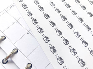 Nano nail polish manicure sticker perfect for journaling or planning