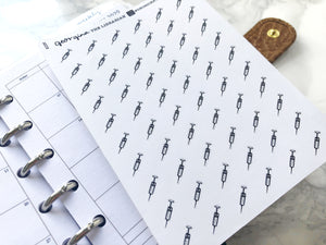 Nano injection syringe sticker perfect for journaling or planning