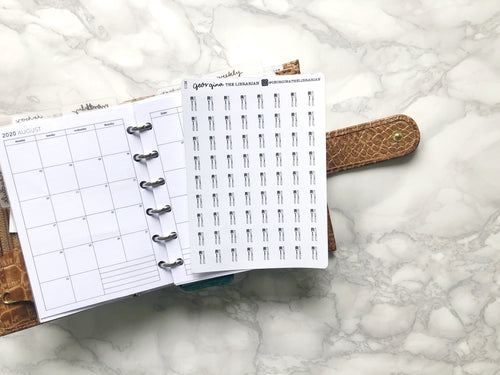 Nano cutlery sticker perfect for journaling or planning