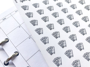 Nano cash money sticker perfect for journaling or planning