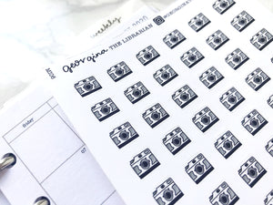 Nano camera sticker perfect for journaling or planning