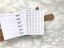 Load image into Gallery viewer, Nano paw print pet sticker perfect for journaling or planning