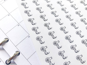 Nano hairdryer hair appointment sticker perfect for journaling or planning