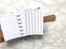 Load image into Gallery viewer, Nano hairdryer hair appointment sticker perfect for journaling or planning