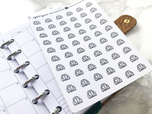 Nano car vehicle sticker perfect for journaling or planning