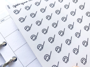 Nano watering can sticker perfect for journaling or planning