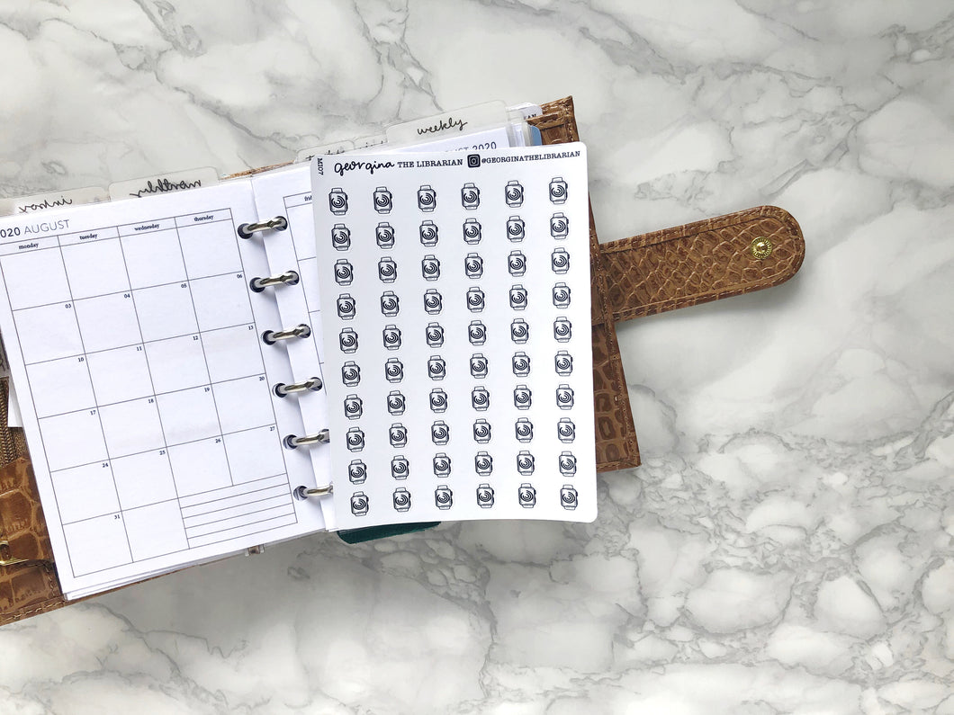 Nano apple watch sticker perfect for journaling or planning