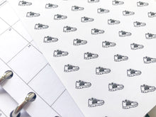 Load image into Gallery viewer, Nano trainer running shoe sticker perfect for journaling or planning