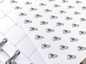 Nano trainer running shoe sticker perfect for journaling or planning