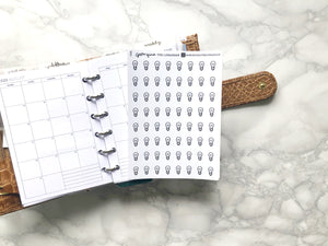 Nano lightbulb sticker perfect for journaling or planning