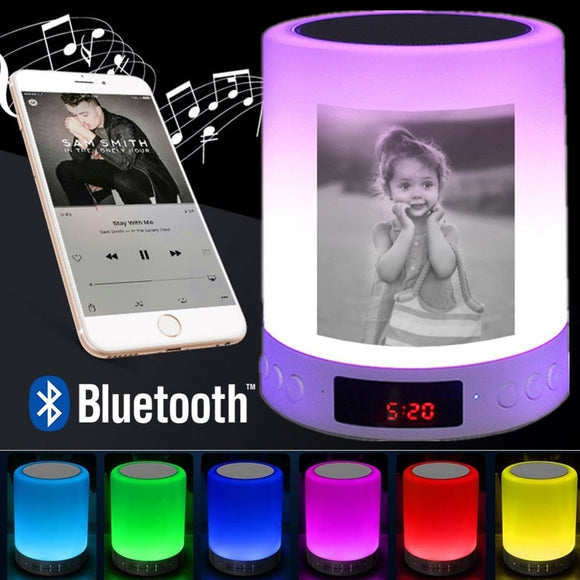 Personalised Photo LED Night Light Bluetooth MP3 Music