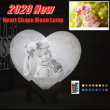 Customised Heart Moon Lamp