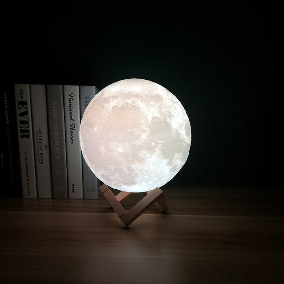 Moon Lamp Night Light 3D Print