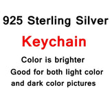 925 Sterling Silver Custom Necklace or Keychain