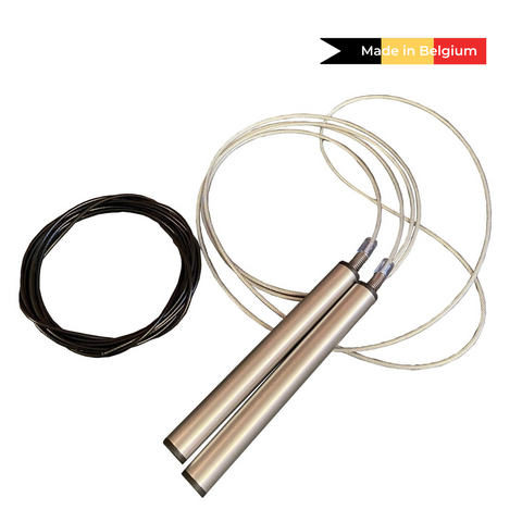 Adjustable speed rope - silver | Crossfit workout | Featzone