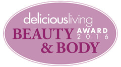 Delicious Living Beauty and Body Award Winner for Best Body Wash