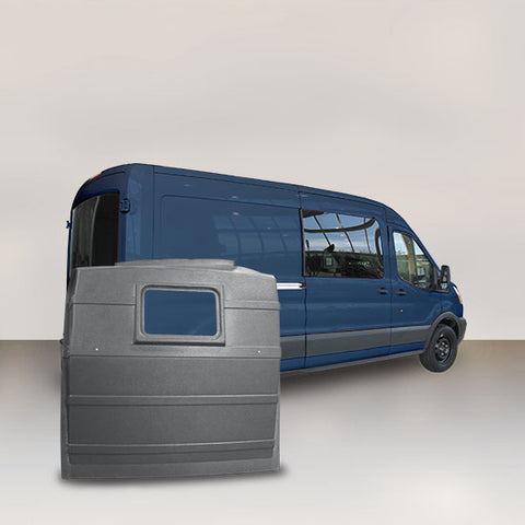 Ford Transit Mid-Roof Window Partition (GREY)