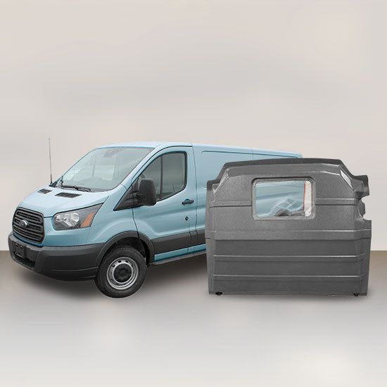 Ford Transit Low Roof - Window Partition (Grey)