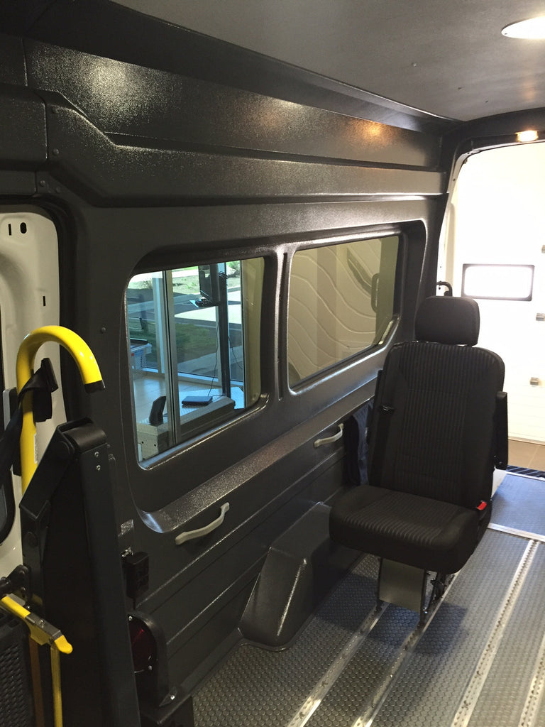 Ford Transit Passenger Van >> Bodyguard Van Liners — Ford Transit High Roof Extended WB Window Wall Liner Kit (GREY)
