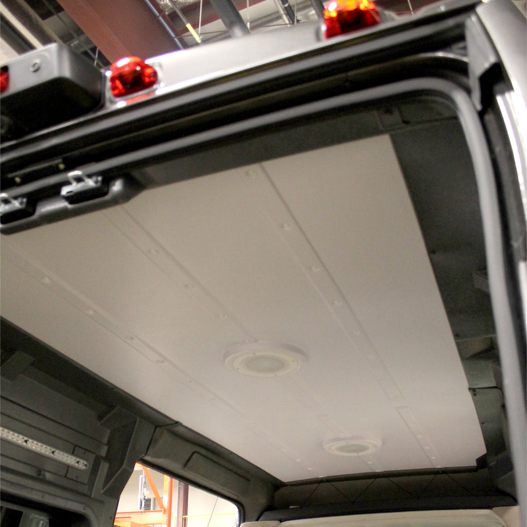 "Ram ProMaster High Roof Single Sliding Door (WB 136"") - Molded Ceiling Panel with Trim Pieces"
