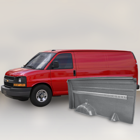Chevrolet Express - Solid Wall Liner Package with E-Track (Grey)
