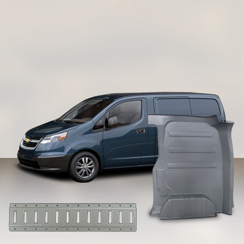 Chevrolet City Express - Solid Wall Liner Package with E-Track (Grey)