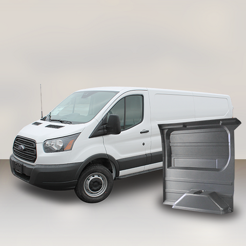 "Ford Transit 130"" WB Low Roof Wall Liner Kit (GREY)"