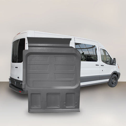 "Ford Transit Mid Roof Single Door (WB 148"") - Solid Wall Liner Package with E-Track"