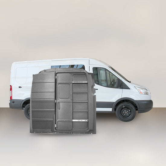 Ford Transit Mid Roof Sliding-Door Partition - Solid (Grey)