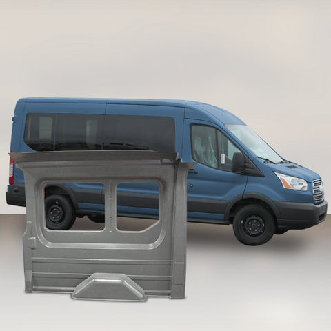 "Ford Transit 148"" WB Mid Roof Window Kit (GREY)"