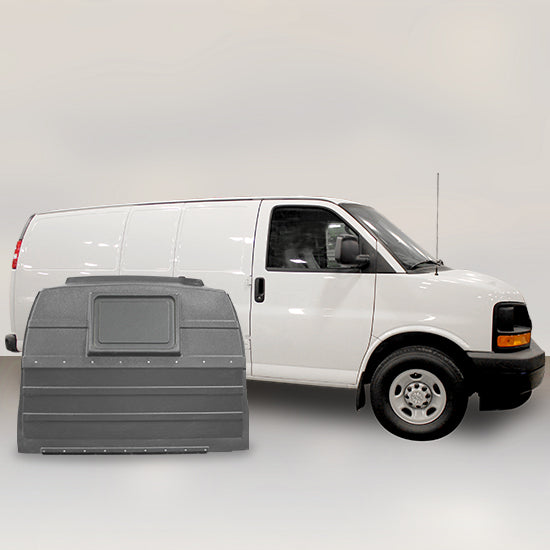 GMC Savana | Chevrolet Express for Sliding Door - Solid Partition