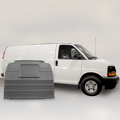 GMC Savana | Chevrolet Express for Hinged Door - Solid Partition (Grey)