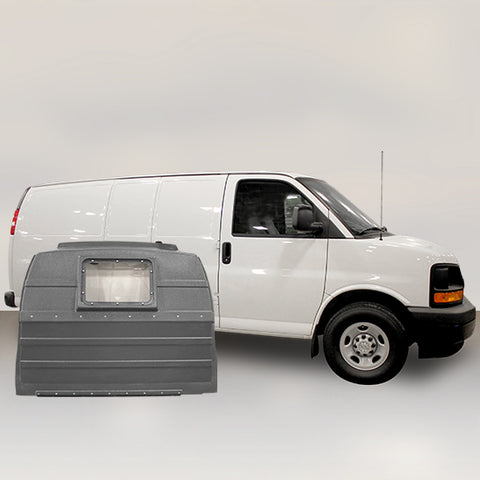 GMC Savana | Chevrolet Express for Hinged Door - Window Partition