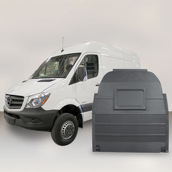 Mercedes Sprinter High Roof - Solid Partition (Grey)