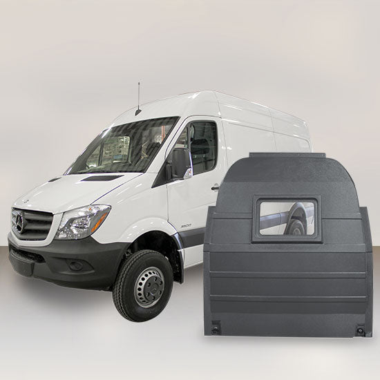 Mercedes Sprinter High Roof - Window Partition (Grey)