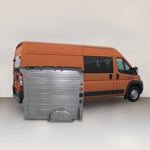 "Ram ProMaster High Roof Dual Door (WB 136"") - Solid Wall Liner Package (Grey)"
