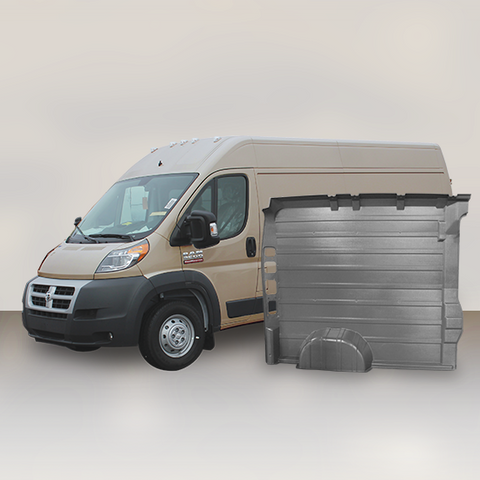 "Ram ProMaster High Roof Single Door (WB 136"") - Solid Wall Liner Package (Grey)"