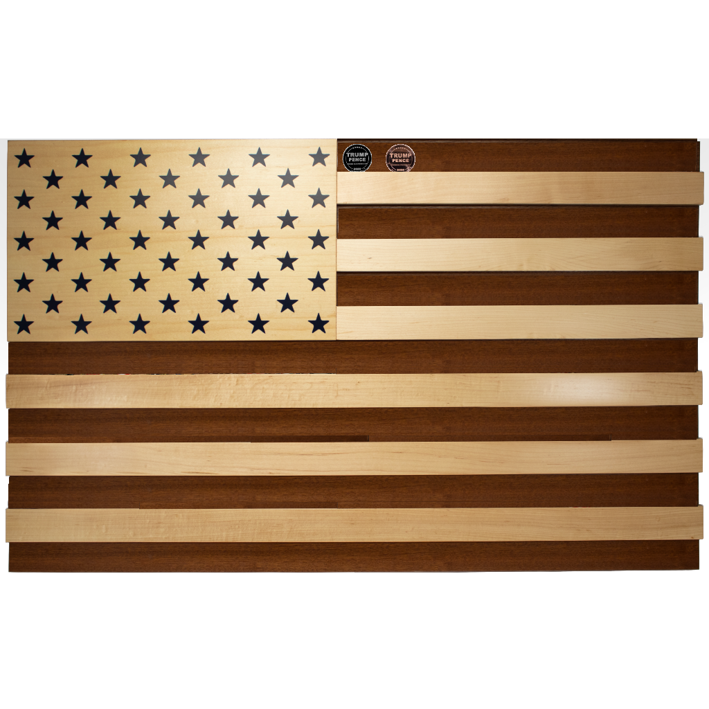 American Flag Wall Mountable Coin Display