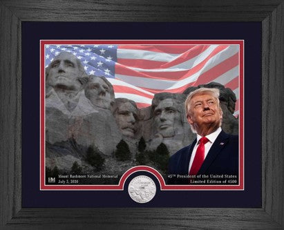 Trump Mount Rushmore Limited Edition Coin & Picture Set