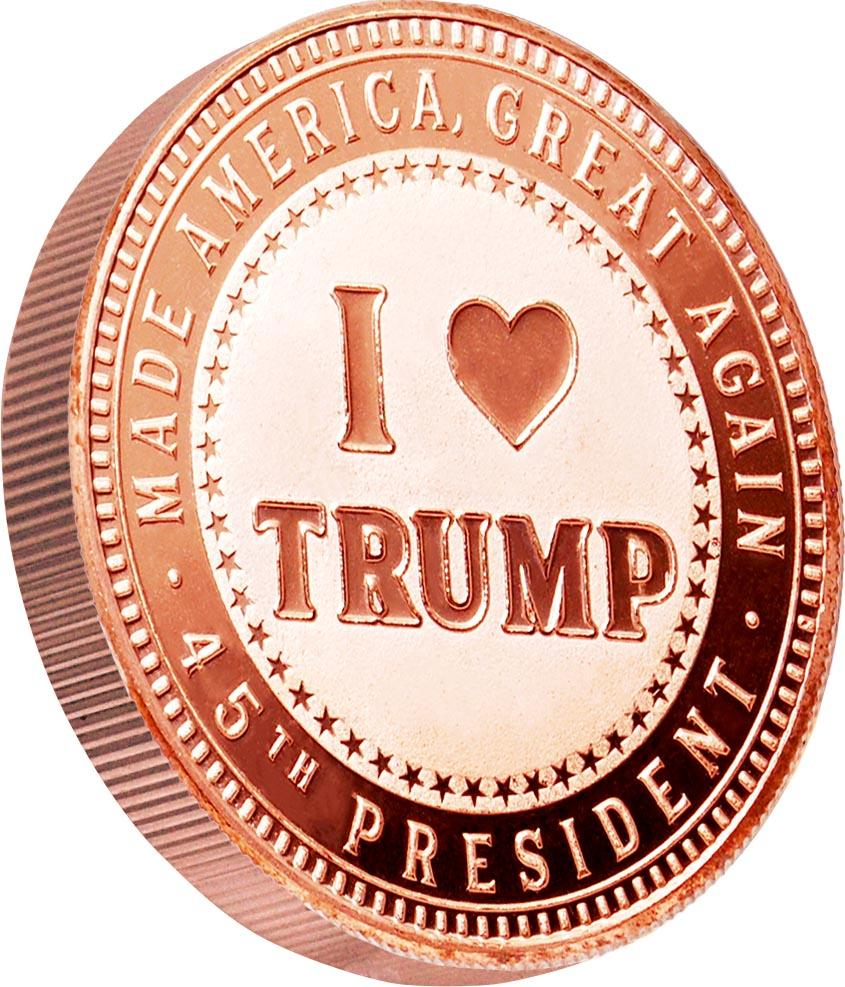 26 Trump Commemorative Copper Round Set