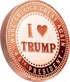 I Heart Trump 1oz Copper Coin