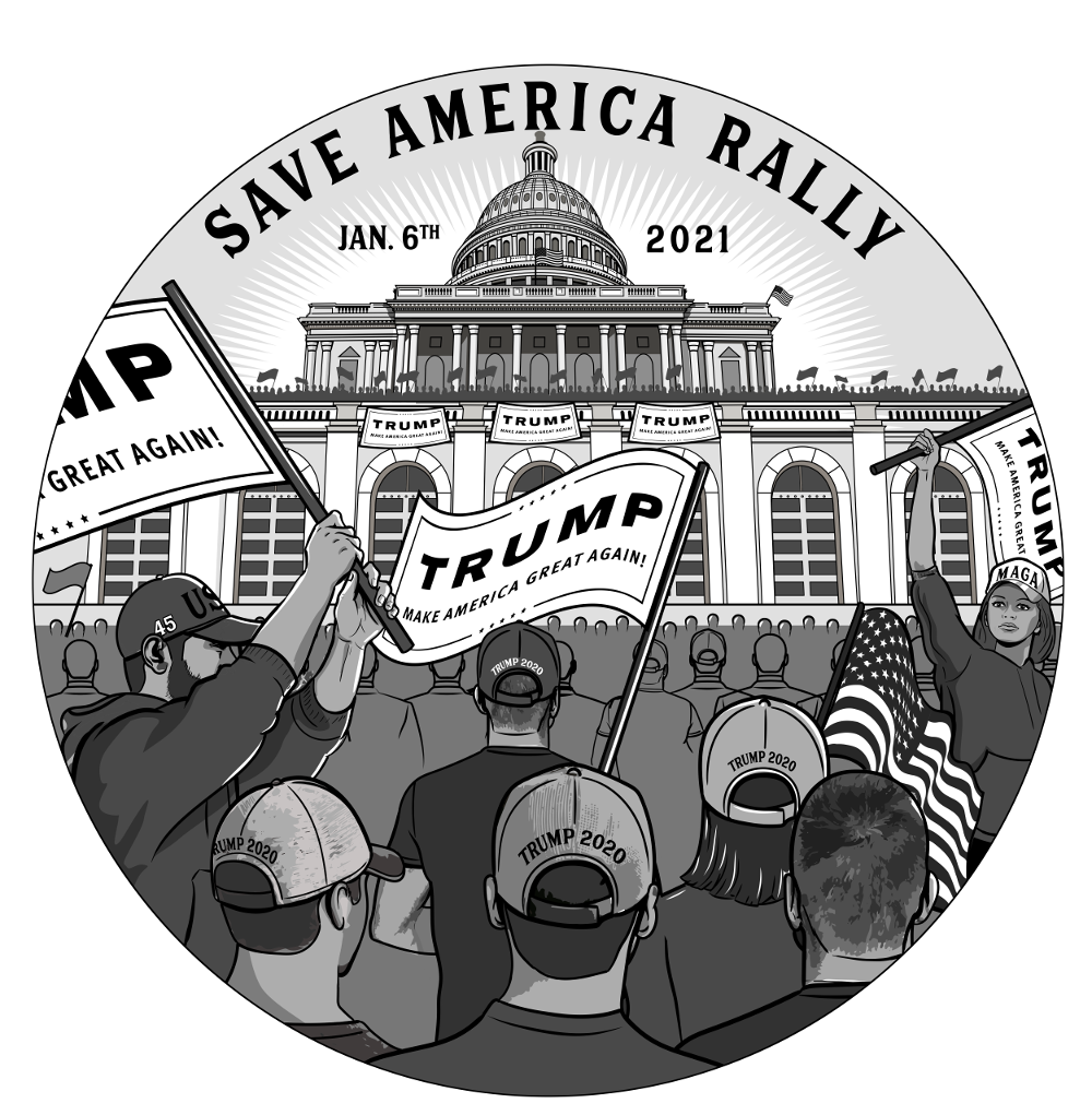 The Save America March Jan 6th 2021 1oz Silver Round (PRESELL)