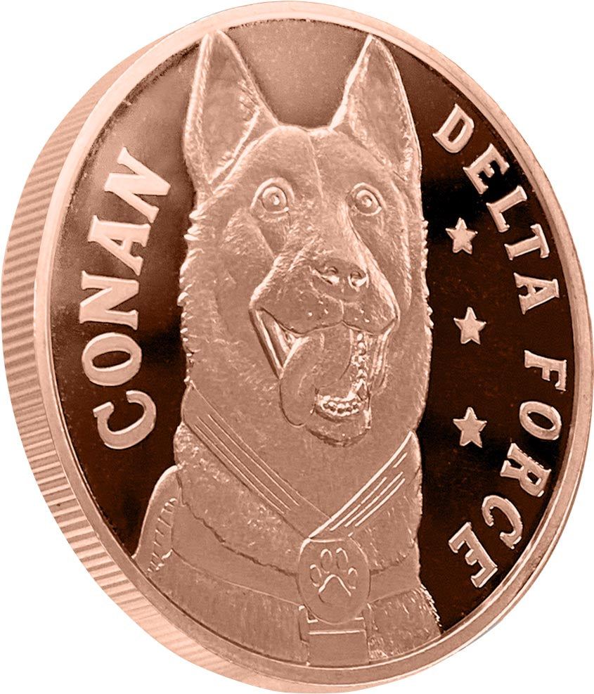Conan the hero dog, part of the Trump Pence 1oz Commemorative Coin Series