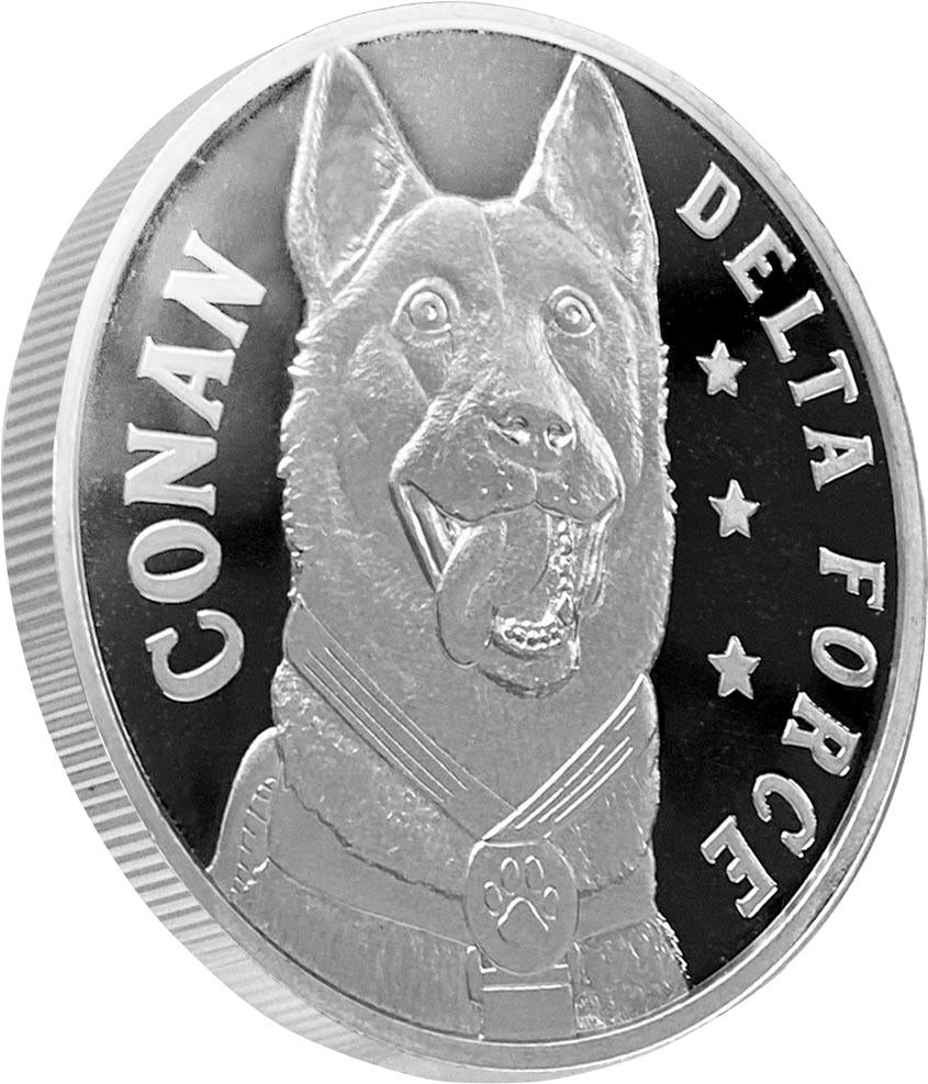 conan the dog is part of our trump commemorative coin series.