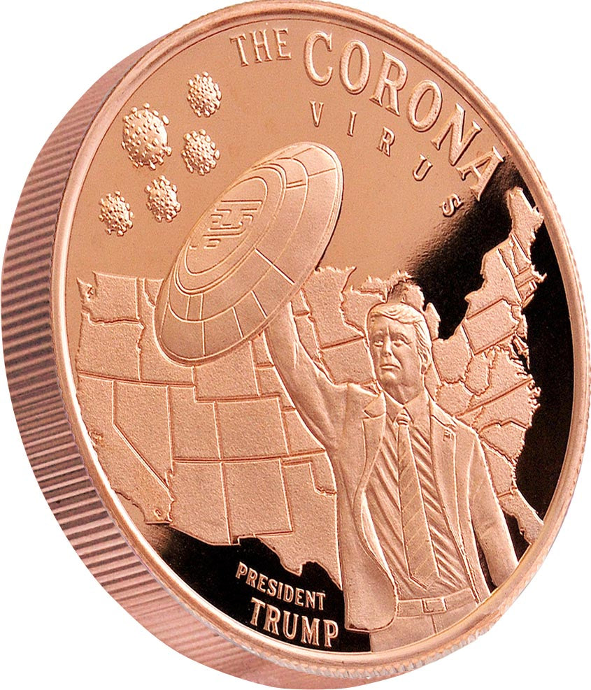 President Trump & the Corona Virus 1oz Copper Coin