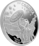 Trump and the Corona 1 oz Silver Coin