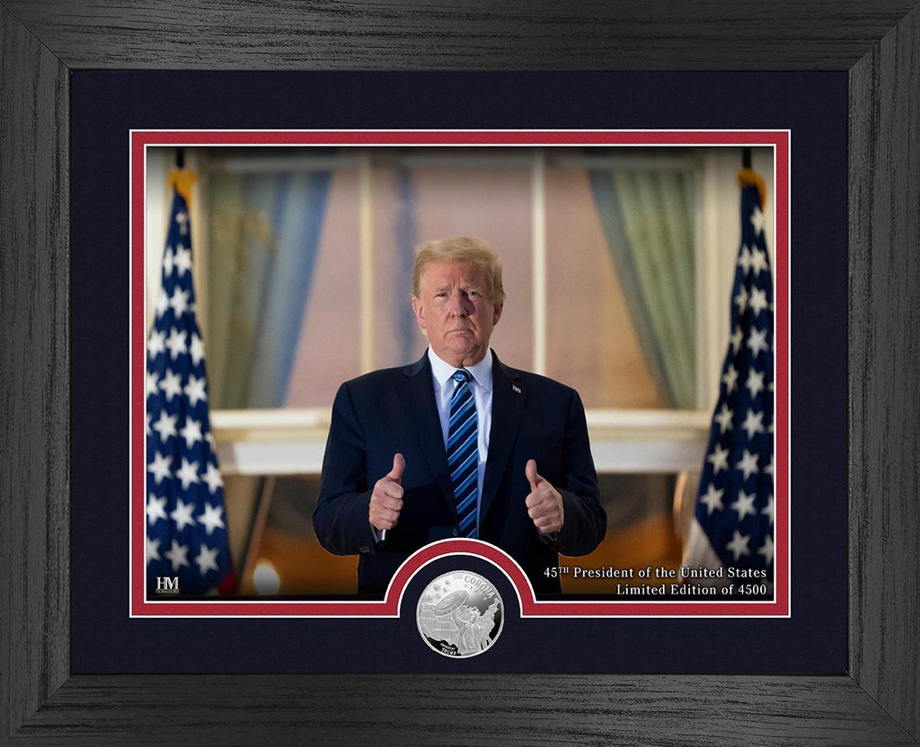 Trump Beats Corona Limited Edition Coin & Picture Set