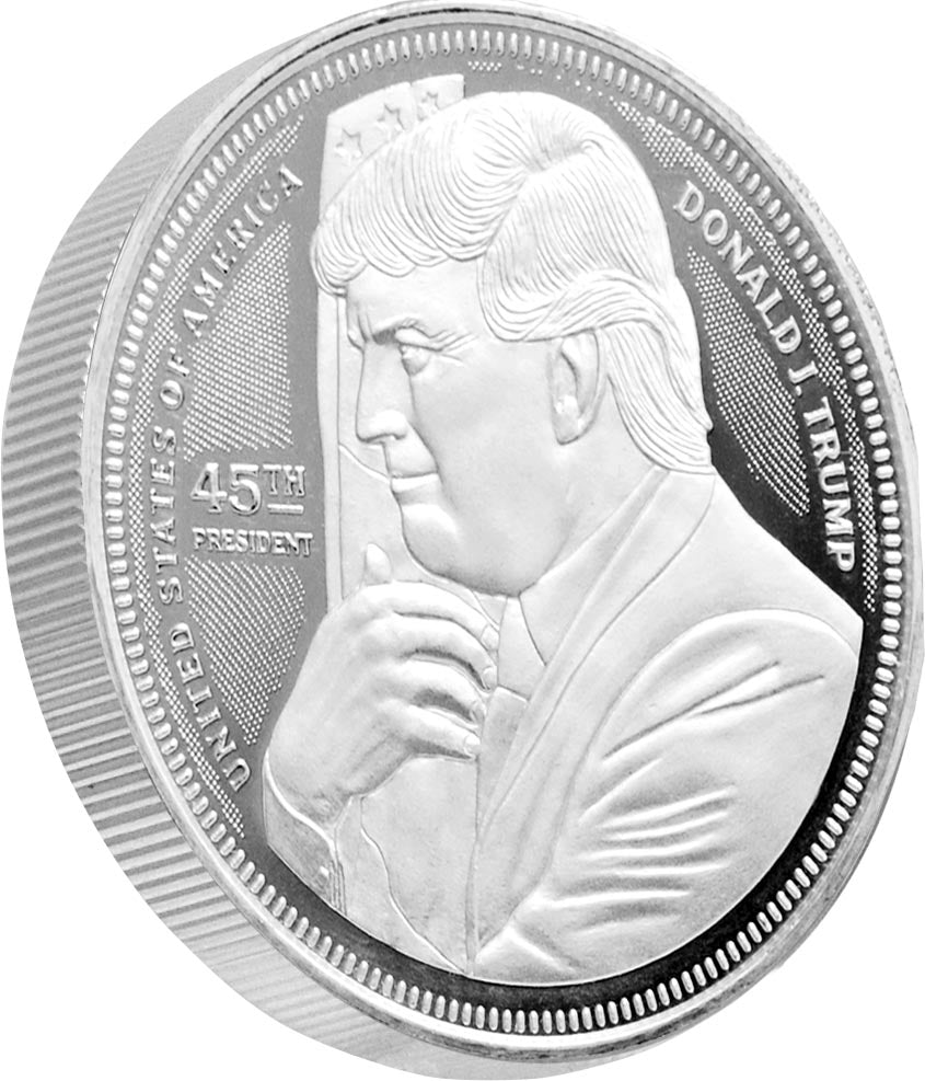 this is our trump hugging the flag commemorative coin - .999 1oz silver -