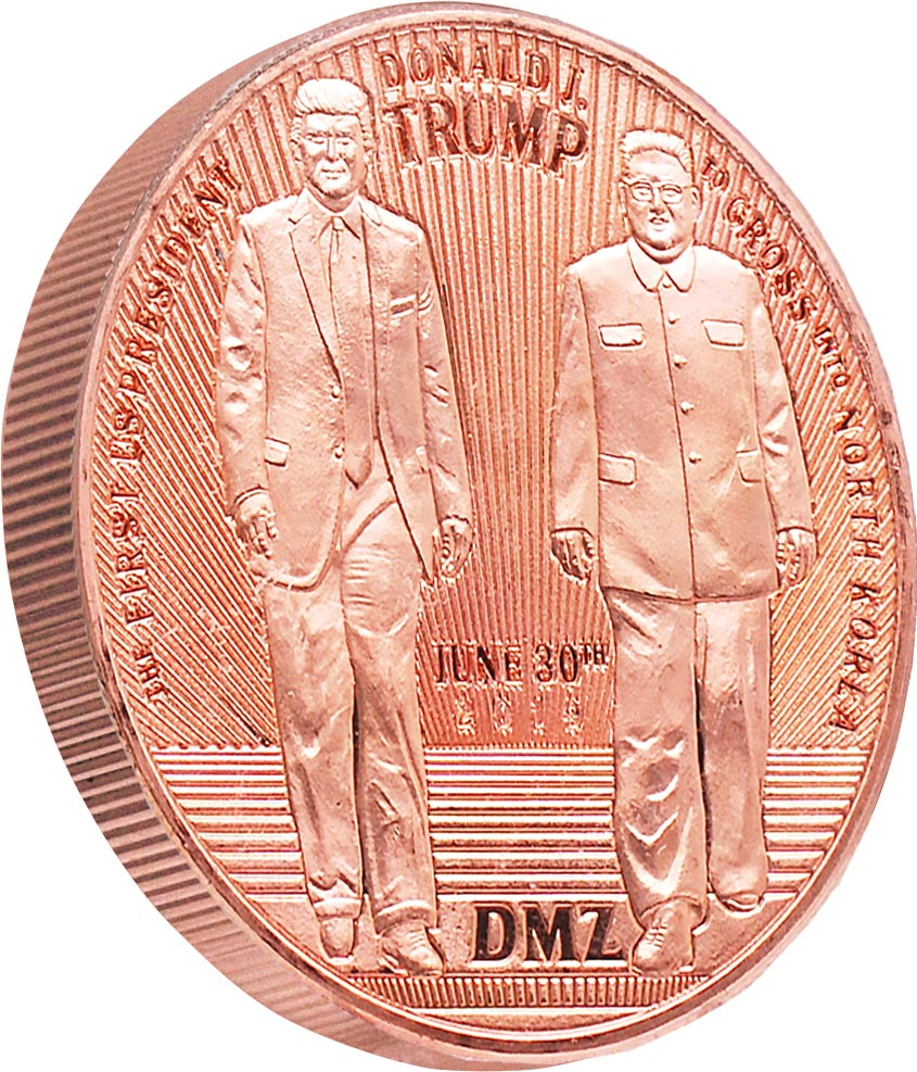 this is our trump dmz commemorative coin - .999 1oz copper-